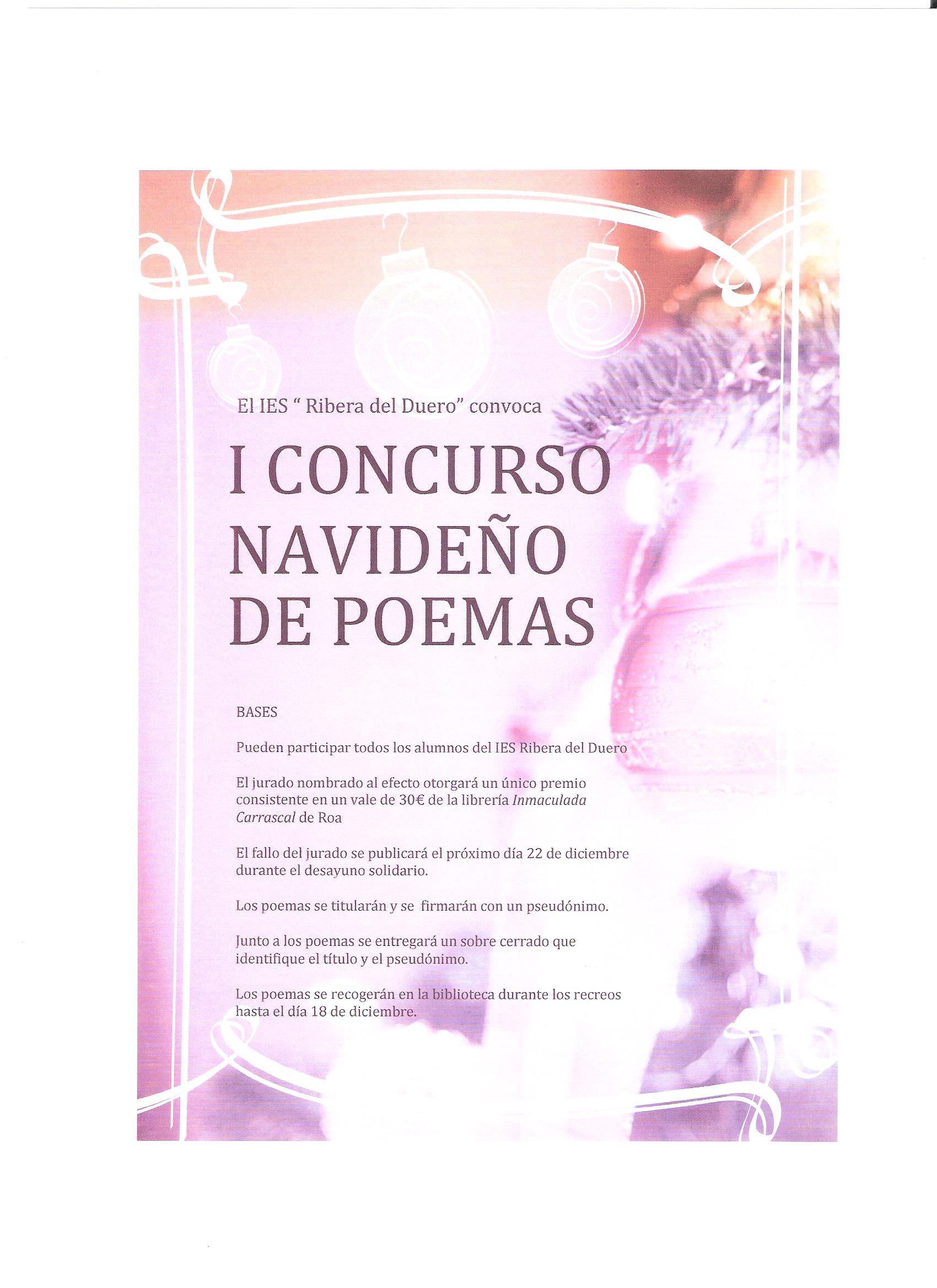 I CONCURSO NAVIDEÑO DE POEMAS